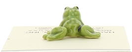 Hagen-Renaker Miniature Ceramic Frog Figurine Tiny Papa Frog and Baby Frog Set image 5