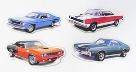 Coleccionable Vintage Cars Imanes Juego de 4 Playmouth Hemi y Duster AMC... - $22.06
