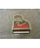Vintage Plastic Grand Piano Music Box Trinket Jewelry Box - $9.99