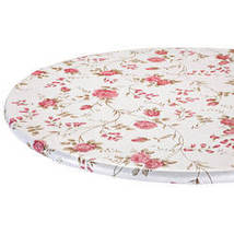 Rose Trellis Elastic Vinyl Table Cover-40-44diaRound - $14.59