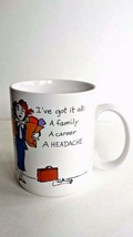 Hallmark Shoebox Greetings I've Got It All Career Woman Coffee Mug Cup 1987 - $5.89