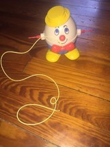 Vintage Fisher Price Humpty Dumpty Pull along toy spinning arms 1960's Y... - $18.32