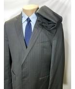 ERMENEGILDO ZEGNA SHANG CLOTH GRAY PINSTRIPES WOOL SILK 2 BUTTONS 44R 36... - $124.91