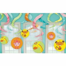 Animals of the Rainforest Baby Shower Swirl Decoration Girl or Boy Jungl... - $7.69