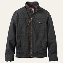 TIMBERLAND A1LHA-001 MOUNT DAVIS MEN'S BLACK WAXED CANVAS JACKET - $149.99