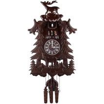 Wood Cuckoo Clock Vivid Large Deer Handcrafted Music Dancers Home Vintag... - $191.78