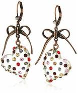 Women's Multi Lucite Heart Drop Earrings One Size Multi - $50.91
