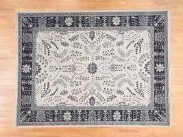 10'x14' HandKnotted Turkish Knot Oushak Ivory Pure Wool Oriental Rug G38167 - $2,079.00