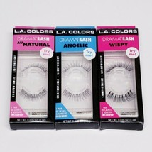 Lot Of 3 L.A. Colors Dramatilash Lashes & Adhesives - Angelic, Wispy, Au... - $16.72