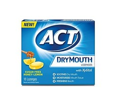 ACT Dry Mouth Lozenges, Honey-Lemon, 18 Count - $6.04