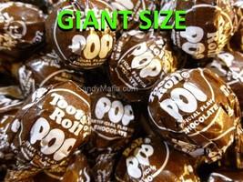 Giant Tootsie Pops Chocolate 42 pops Giant Chocolate Tootsie Pop lollipo... - £14.52 GBP