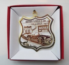 Route 66 Brass Ornament Main Street of America Travel Souvenir - $13.95