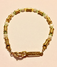 Napier signed white cats eye, faceted peridot and faceted citrine gemsto... - $19.00