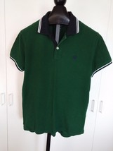 AMERICAN EAGLE OUTFITTERS MEN'S SS GREEN POLO SHIRT-L-BARELY WORN-CLASSI... - $230,02 MXN