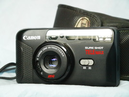 Canon Sure Shot Tele MAX Point And Shoot Quality 35mm Compact Camera Cased   - $35.00