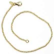 18K YELLOW GOLD BRACELET WITH FINELY WORKED SPHERES, 1.5 MM DIAMOND CUT BALLS image 2