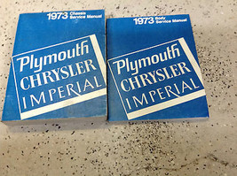 1973 Chrysler Imperial Plymouth Barracuda Roadrunner Service Shop Manual... - $118.74