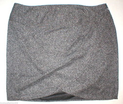 New Womens Lane Bryant Skirt Faux Wrap Tweed Black White 26 Plus Office ... - $45.00