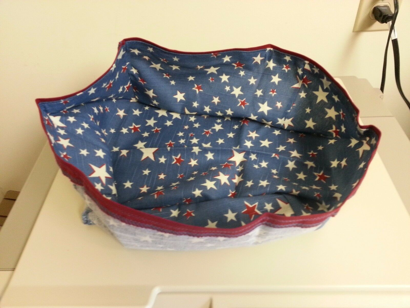 Primary image for Longaberger Cake Basket Small Picnic American Starburst Fabric DI Liner Only