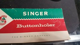 Vtg.  Instructions on the Operation and care of Singer Buttonholer.489500/489510 - $7.91