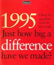 1995 SATURN deluxe sales brochure catalog US 95 SC SL SW - $8.00