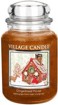 Village Candle Gingerbread House 26 oz Glass Jar Scented Candle Two Wicks - $30.00