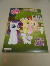 NEW My Little Pony jumbo coloring & activity book Pony play dates Stocki... - $4.95