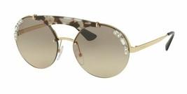 Prada Womens Sunglasses PR52US C3O3D0 Pale Gold Chalk W/ Brown Mirrored ... - $148.49
