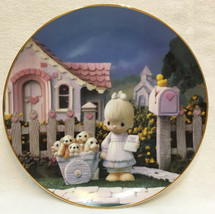 Precious Moments Collectors Plate God Loveth A Cheerful Giver Hamilton 1993 - $14.84