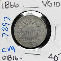 1866 SHIELD NICKEL 5¢ COIN Lot# CV9