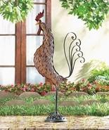 LARGE METAL ROOSTER SCULPTURE Indoor Outdoor Statue - $34.41