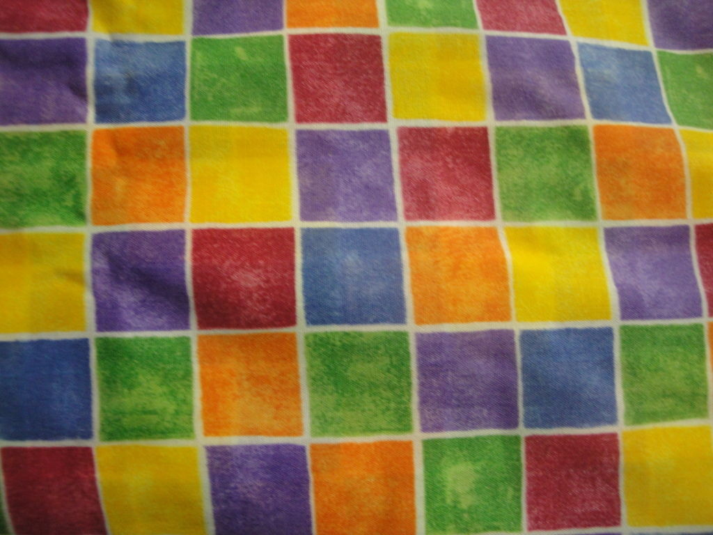Muted Rainbow Check Design-All Over Print-By General Fabrics-BTY-Out Of Print