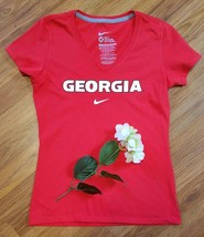 Women's Nike Red Georgia Bulldogs Slim-Fit S/S Shirt -New without tags- ... - €15,24 EUR