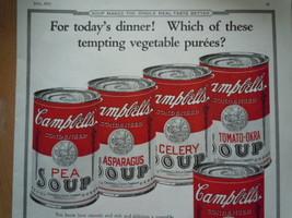 Vintage Campbell's Soup Vegetable Puree's Print Magazine Advertisement 1923 image 2