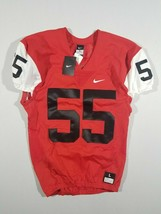 New Nike Men's Large Mach Speed Football Game Jersey Red White Black #55... - $16.34