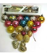 22 Mercury Glass Christmas Tree Ornaments Sears Tree Topper Mid Century ... - $148.49