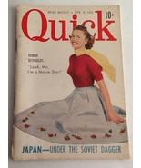 "Vintage Quick News Weekly Magazine 6"" X 4"" April 9, 1951 Debbie Reynolds  - $10.84"