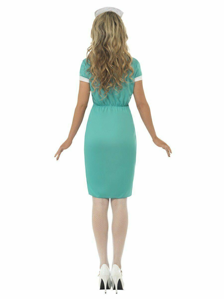 Smiffys Scrub ER Hospital Nurse Uniform Adult Womens Halloween Costume 25870