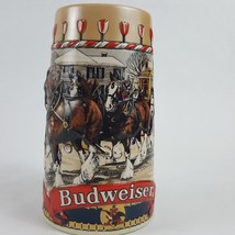 Vintage Collector's Series 1986 Budweiser Clydesdale Christmas Stein Mug - $9.49
