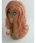 WigBuy Pink Lace Front Wigs,Long Curly Synthetic Color Lace Wig Hair - $39.60