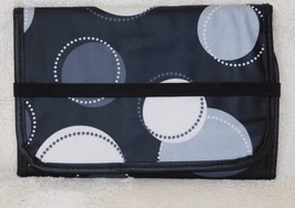 Thirty-One Black Happy Dot Tri-Fold and Go Organizer Notepad Holder