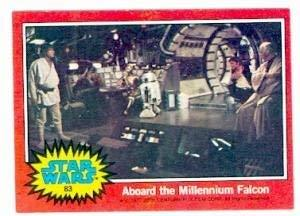 Star Wars card #83 1977 Topps Aboard the Millennium Falcon Luke Skywalker Ben Ke