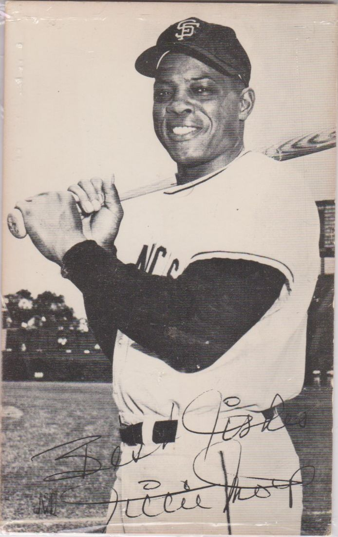 Primary image for Willie Mays Signed Autographed Vintage Postcard - San Francisco Giants