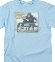 Knight Rider Retro 80's TV show David Hasselhoff & Kitt graphic t-shirt NBC667 image 3