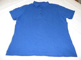 Hanes Stedman adult XL 16-18 mens short sleeve cotton Polo shirt blue NOS - $10.88