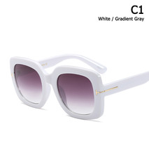 JackJad 2018 Vintage Women Square ButterFly Style Sunglasses UV400 Gradi... - $17.56