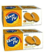 Moon Pie Pumpkin Spice Minis Fall Marshmallow Sandwich 24 Count Limited ... - $18.29