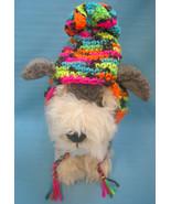 Pet Dog Cat Winter Hat Bright Florescent Color Tiny Handmade Crochet by ... - $9.00