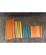 vtg Lincoln Logs  Replacment Parts 21 pc flat orange yellow green roof p... - $19.99