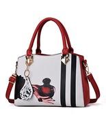 Women's PU Leather Tote Block Exquisite Retro Stylish Print Pattern Bag ... - $25.87